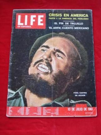 Revista LIFE en español. 10-07-1961. J. F. KENNEDY: Reportaje fotográfico de 4  páginas de los viajes de J. F. K. y Jacqueline a Canadá, Francia,  Reino Unido,  Austria... - Ver os detalles do produto