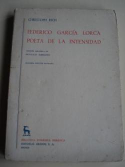 Ver os detalles de:  Federico García Lorca, poeta de la intensidad (Versión española de Gonzalo Sobejano)