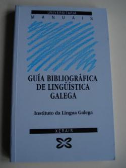 Ver os detalles de:  Guía bibliográfica de lingüística galega