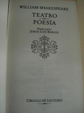 Teatro / Poesía (Hamlet, Príncipe de Dinamarca-Macbeth-Antonio y Cleopatra-El mercader de Venecia-La tempestad / 48 sonetos de amor) - Ver os detalles do produto
