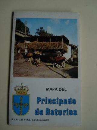 Mapa del Principado de Asturias. Desplegable de gran tamaño con nomenclator - Ver os detalles do produto