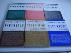 Ver os detalles de:  Revista HIPERIÓN Colección completa (6 números). Madrid, 1978-1981. Nº 1: Los viajes - Nº 2: La carne-Nº 3: Jesuitas - Nº 4: El excremento - Nº 5: Amor y muerte en américa Latina - Nº 6: El miedo