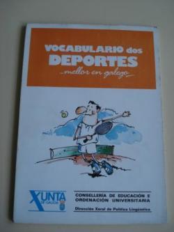 Ver os detalles de:  Vocabulario dos deportes... mellor en galego   (Con vocabularios galego-castelán e castelán-galego)
