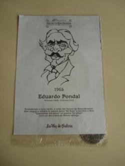 Ver os detalles de:  Eduardo Pondal / Francisco Añón. Medalla conmemorativa 40 aniversario Día das Letras Galegas. Colección Medallas Galicia ao pé da letra