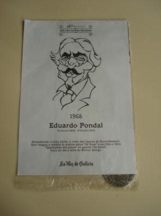 Eduardo Pondal / Francisco Añón. Medalla conmemorativa 40 aniversario Día das Letras Galegas. Colección Medallas Galicia ao pé da letra - Ver los detalles del producto