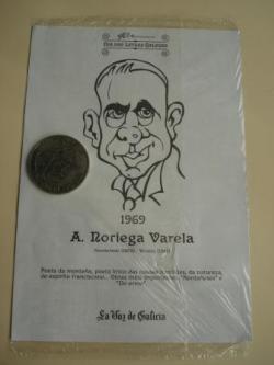 Ver os detalles de:  A. Noriega Varela / Marcial Valladares. Medalla conmemorativa 40 aniversario Día das Letras Galegas. Colección Medallas Galicia ao pé da letra