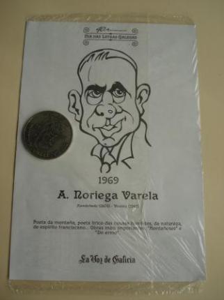 A. Noriega Varela / Marcial Valladares. Medalla conmemorativa 40 aniversario Día das Letras Galegas. Colección Medallas Galicia ao pé da letra - Ver os detalles do produto