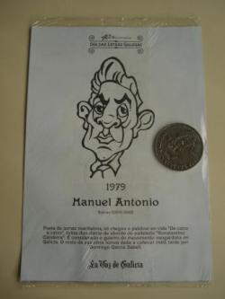 Ver os detalles de:  Manuel Antonio / Afonso X O Sabio. Medalla conmemorativa 40 aniversario Día das Letras Galegas. Colección Medallas Galicia ao pé da letra
