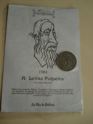 M. Leiras Pulpeiro / A. Cotarelo Valledor. Medalla conmemorativa 40 aniversario Día das Letras Galegas. Colección Medallas Galicia ao pé da letra - Ver os detalles do produto