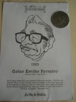 Ver os detalles de:  Celso Emilio Ferreiro / Luis Pimentel. Medalla conmemorativa 40 aniversario Día das Letras Galegas. Colección Medallas Galicia ao pé da letra