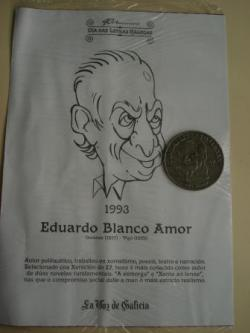 Ver os detalles de:  Eduardo Blanco Amor / Luis Seoane. Medalla conmemorativa 40 aniversario Día das Letras Galegas. Colección Medallas Galicia ao pé da letra