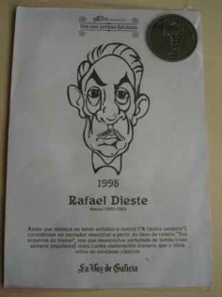 Rafael Dieste / Xesús Ferro Couselo. Medalla conmemorativa 40 aniversario Día das Letras Galegas. Colección Medallas Galicia ao pé da letra - Ver os detalles do produto