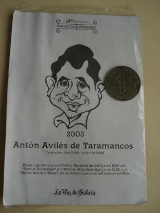 Antón Avilés de Taramancos. Medalla conmemorativa 40 aniversario Día das Letras Galegas. Colección Medallas Galicia ao pé da letra - Ver los detalles del producto