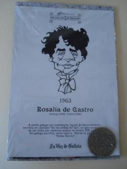 Ver os detalles de:  Rosalía de Castro / A. D. Rodríguez Castelao. Medalla conmemorativa 40 aniversario Día das Letras Galegas. Colección Medallas Galicia ao pé da letra