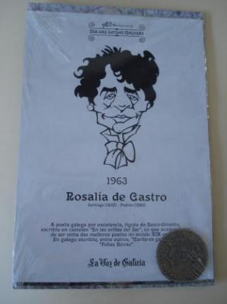 Rosalía de Castro / A. D. Rodríguez Castelao. Medalla conmemorativa 40 aniversario Día das Letras Galegas. Colección Medallas Galicia ao pé da letra - Ver los detalles del producto