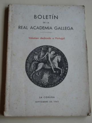 Boletín de la Real Academia Gallega. Volumen dedicado a Portugal. Números 274-276. Septiembre 1943 (Sebastián Risco, Julio de Lemos, Souza Soares...) - Ver os detalles do produto