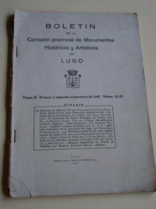 Boletín de la Comisión provincial de Monumentos Históricos y Artísticos de Lugo. Números 21-22. Primer y segundo trimestres de 1947 - Ver os detalles do produto