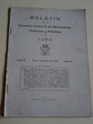 Boletín de la Comisión provincial de Monumentos Históricos y Artísticos de Lugo. Número 19. Tercer trimestre de 1946 - Ver os detalles do produto