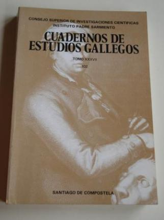 Cuadernos de Estudios Gallegos. Tomo XXXVII. Número 102 - 1987. (Arqueología y Prehistoria - Historia - Historia del Arte - Etnografía - Lengua y Literatura) - Ver os detalles do produto