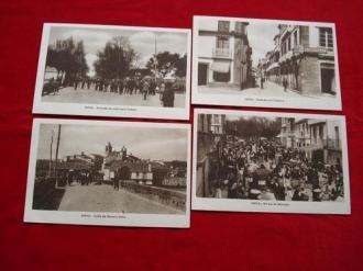 Lote de 4 tarxetas postais de Noia (Noya) - Década de 1920 - Ver los detalles del producto