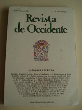 REVISTA DE OCCIDENTE. Nº 43. Extraordinario XI. Diciembre 1984. ALFONSO X Y SU ÉPOCA (13 ensayos breves) - Ver os detalles do produto