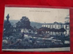 Ver os detalles de:  Tarxeta postal: Noia (Noya) - Detalles dos Xardíns de Felipe de Castro. 1920