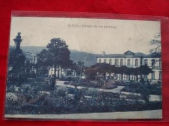 Tarxeta postal: Noia (Noya) - Detalles dos Xardíns de Felipe de Castro. 1920 - Ver los detalles del producto