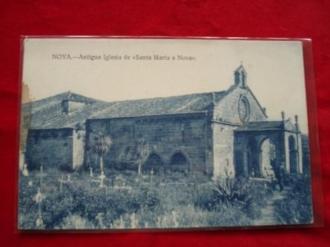 Tarxeta postal: Noia (Noya) - Antiga Igrexa de Santa María a Nova. 1920 - Ver los detalles del producto