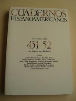 Ver os detalles de:  CUADERNOS HISPANOAMERICANOS. 451-52. Enero-Febrero 1988. Los negros en América