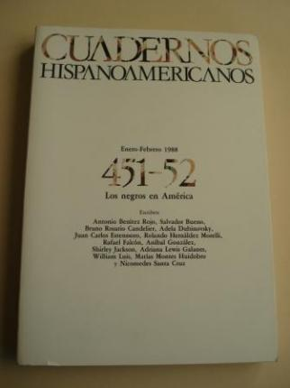 CUADERNOS HISPANOAMERICANOS. 451-52. Enero-Febrero 1988. Los negros en América - Ver os detalles do produto