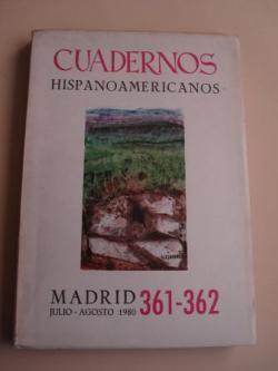 Ver os detalles de:  CUADERNOS HISPANOAMERICANOS. 361-362. Julio-Agosto 1980. Homenaje a Quevedo en su IV centenario