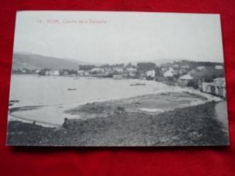 Tarxeta postal: Noia (Noya)- Praia da Barquiña. 1920 - Ver los detalles del producto