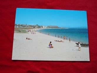 Tarxeta postal: Aguiño (Ribeira- A Coruña). Praia da Catia. Anos 70 - Ver los detalles del producto