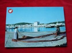 Ver os detalles de:  Tarxeta postal: Ribeira (A Coruña). Vista desde o Porto. Década 1970