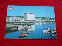 Ver os detalles de:  Tarxeta postal: Ribeira (A Coruña). Vista parcial do porto. Década 1970