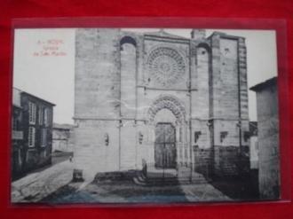 Tarxeta postal: Noia (Noya) -Igrexa de San Martiño. 1920 - Ver los detalles del producto
