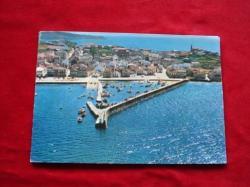 Ver os detalles de:  Tarxeta postal: Porto do Son (A Coruña). Vista aérea. Década 1970