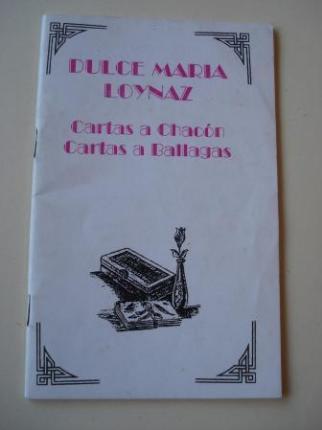 Cartas a Chacón - Cartas a Ballagas - Ver os detalles do produto