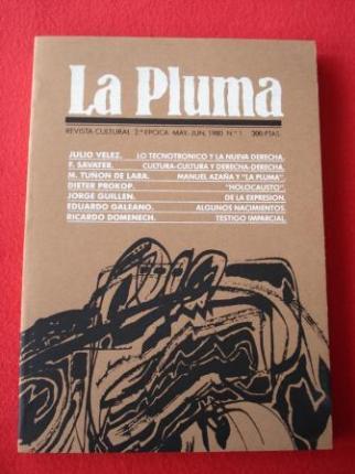 LA PLUMA. Revista Cultural. 2ª época. Mayo-Junio, 1980. Nº 1 - Ver os detalles do produto