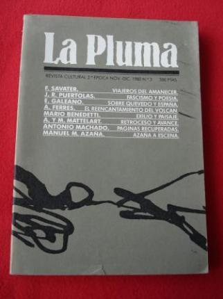 LA PLUMA. Revista Cultural. 2ª época. Noviembre-Diciembre, 1980. Nº 3 - Ver os detalles do produto