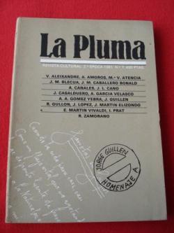 Ver os detalles de:  LA PLUMA. Revista Cultural. 2ª época. 1981. Nº 7: Homenaje a Jorge Guillén