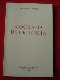 Ver os detalles de:  Biografía de urgencia