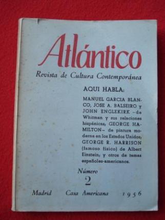 ATLÁNTICO. Revista de Cultura Contemporánea. Número 2, Junio-1956. Casa Americana - Madrid - Ver os detalles do produto
