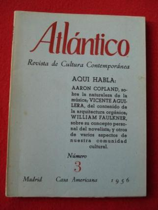ATLÁNTICO. Revista de Cultura Contemporánea. Número 3, Octubre-1956. Casa Americana - Madrid - Ver os detalles do produto