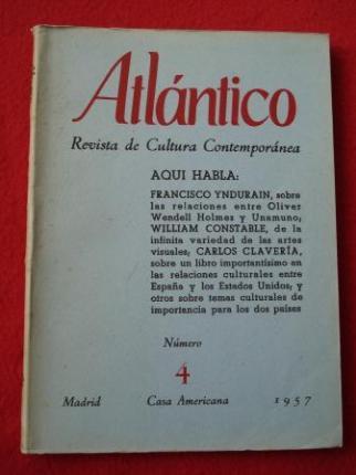 ATLÁNTICO. Revista de Cultura Contemporánea. Número 4, Febrero-1957. Casa Americana - Madrid - Ver os detalles do produto