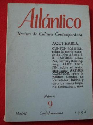 ATLÁNTICO. Revista de Cultura Contemporánea. Número 9, Marzo-1959. Casa Americana - Madrid - Ver os detalles do produto