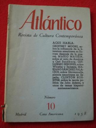 ATLÁNTICO. Revista de Cultura Contemporánea. Número 10, Junio-1958. Casa Americana - Madrid - Ver os detalles do produto