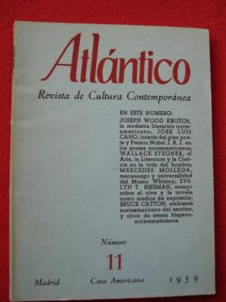 ATLÁNTICO. Revista de Cultura Contemporánea. Número 11, Marzo-1959. Casa Americana - Madrid - Ver os detalles do produto