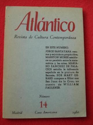 ATLÁNTICO. Revista de Cultura Contemporánea. Número 14, 1960. Casa Americana - Madrid - Ver os detalles do produto