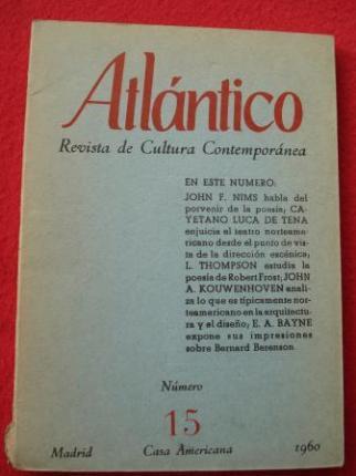 ATLÁNTICO. Revista de Cultura Contemporánea. Número 15, 1960. Casa Americana - Madrid - Ver os detalles do produto